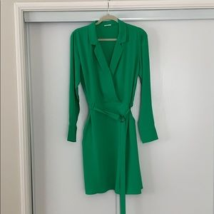 ✨NWOT✨ ASOS Villa Shirt Dress Sz L Kelly Green